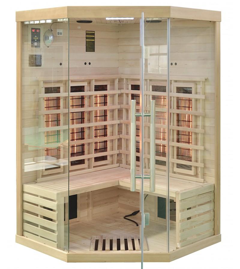 infrarotkabine quube 120 eck mit vollspektrumstrahler. Black Bedroom Furniture Sets. Home Design Ideas