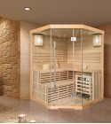 FINNISCHE SAUNA POLAR LIGHT 150 Eck - TRADITIONELLE SAUNA