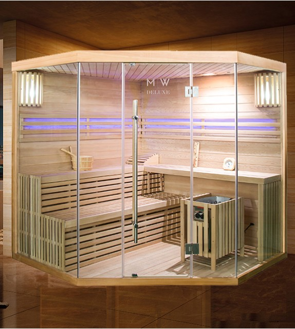 FINNISCHE SAUNA POLAR LIGHT 200 Eck - TRADITIONELLE SAUNA