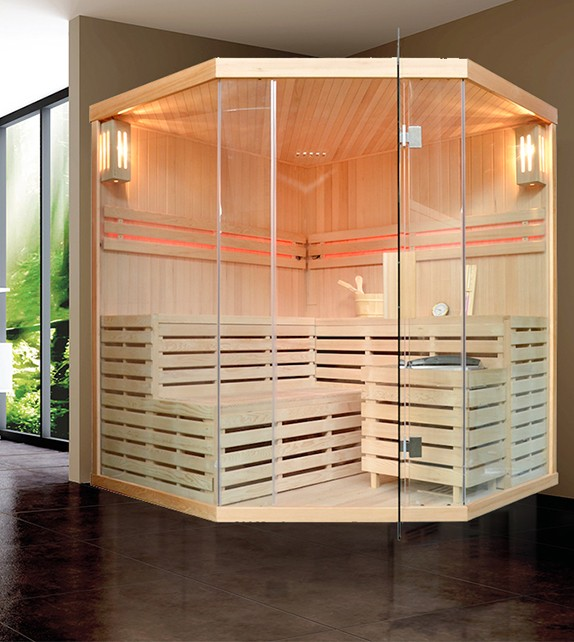 FINNISCHE SAUNA POLAR LIGHT 180 Eck -  TRADITIONELLE SAUNA
