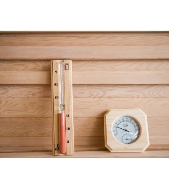 Sauna Zubehör Sanduhr + Klimamessgerät