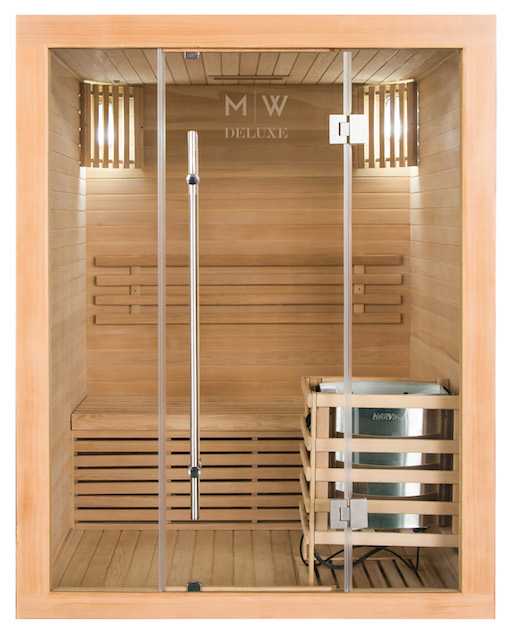 sauna f r 2 personen mw deluxe. Black Bedroom Furniture Sets. Home Design Ideas